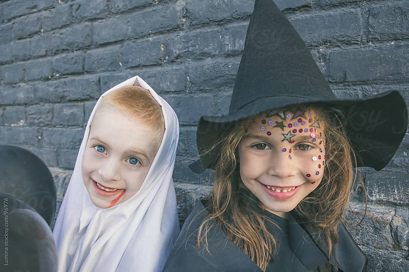 Ghost and Witch Ready for Halloween by Lumina for Stocksy United