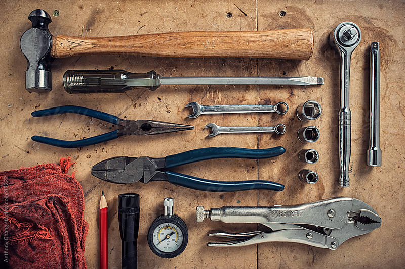 Mechanic Tools by Anthony Chang for Stocksy United