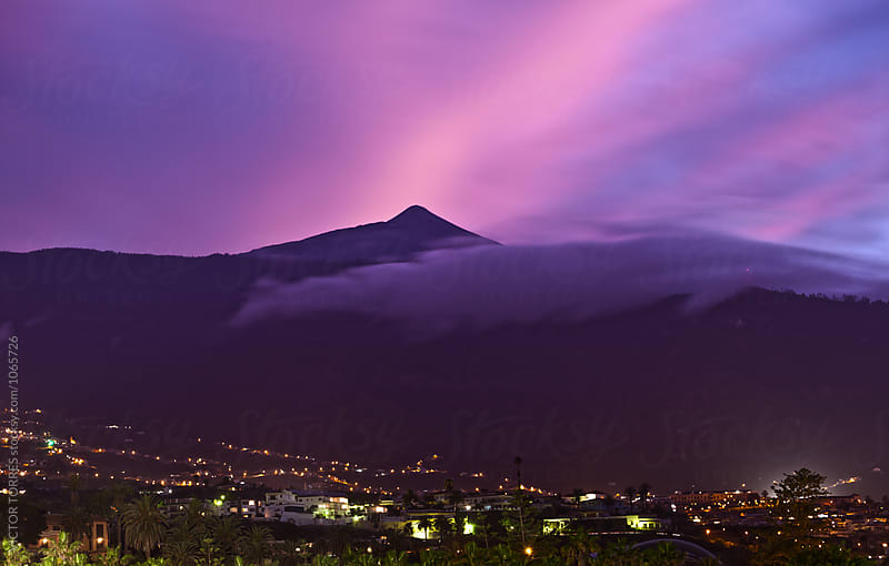 Teide Mountain at Sunset by Victor Torres for Stocksy United