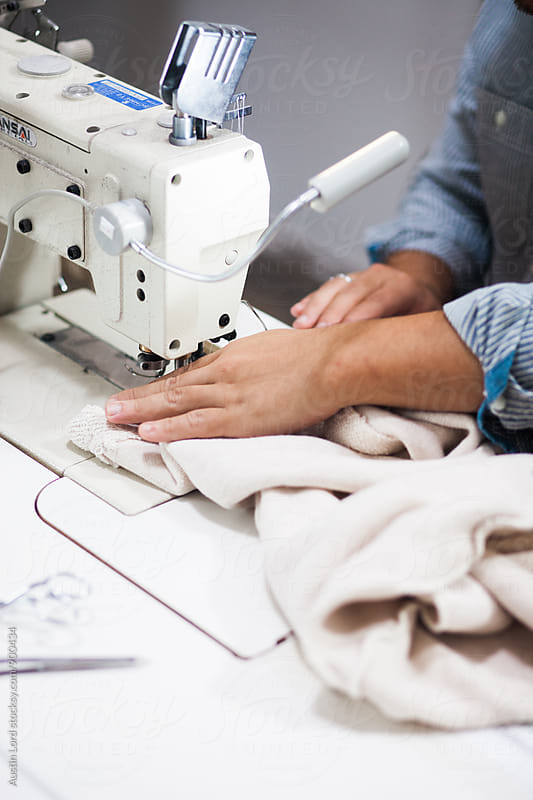 Person sewing.  by Austin Lord for Stocksy United