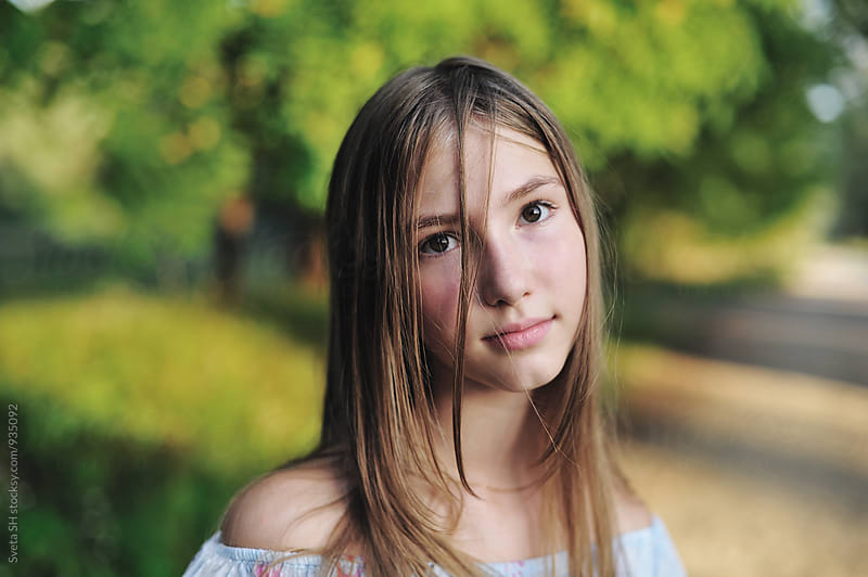 Portrait of teen girl by Svetlana Shchemeleva for Stocksy United