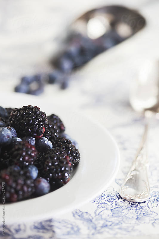 Berries and fruit for breakfast. by mee productions for Stocksy United