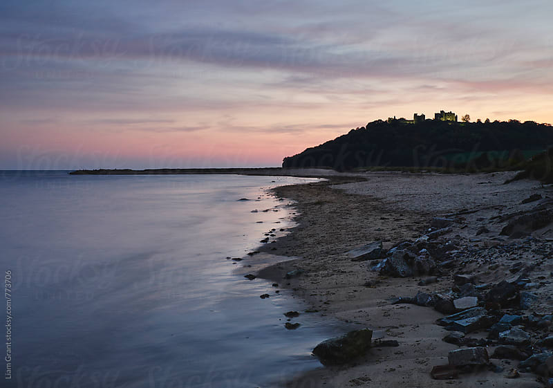 Llansteffan Castle at twilight. Wales, UK. by Liam Grant for Stocksy United