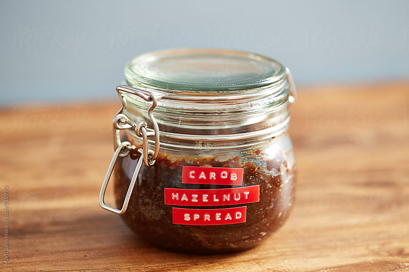 Carob hazelnut spread by Martí Sans for Stocksy United