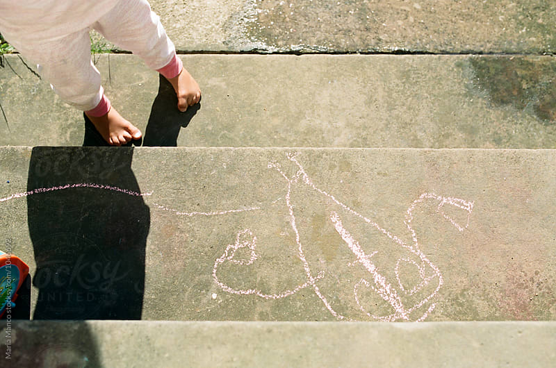 child chalk art doodle by Maria Manco for Stocksy United