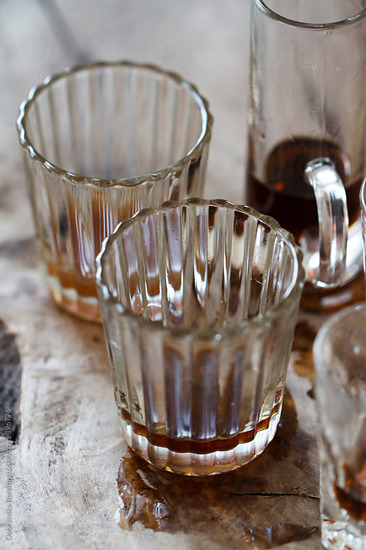Empty shot glasses by Dobránska Renáta for Stocksy United