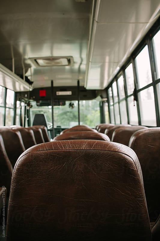 Empty Tour Bus by Luke Mattson for Stocksy United