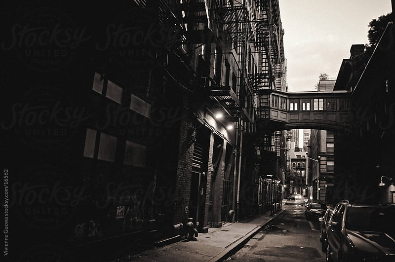 City: New York Alley with Skybridge by Vivienne Gucwa for Stocksy United