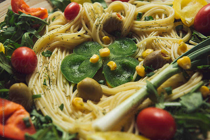 Spaghetti in Close-Up by Lumina for Stocksy United