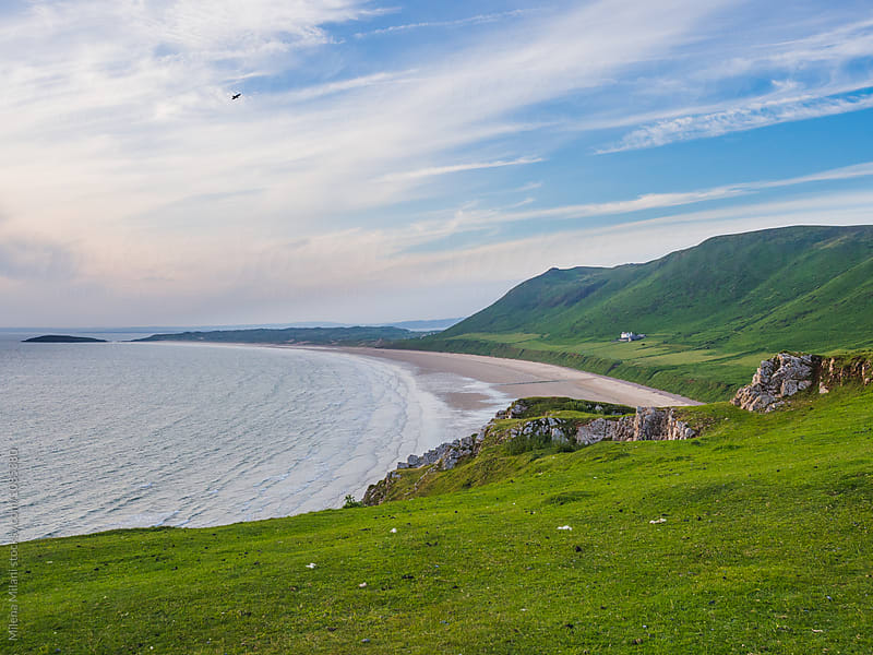 Rhossili Bay by Milena Milani for Stocksy United