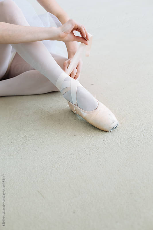 Ballet dancer in preparation for dance practice by michela ravasio for Stocksy United