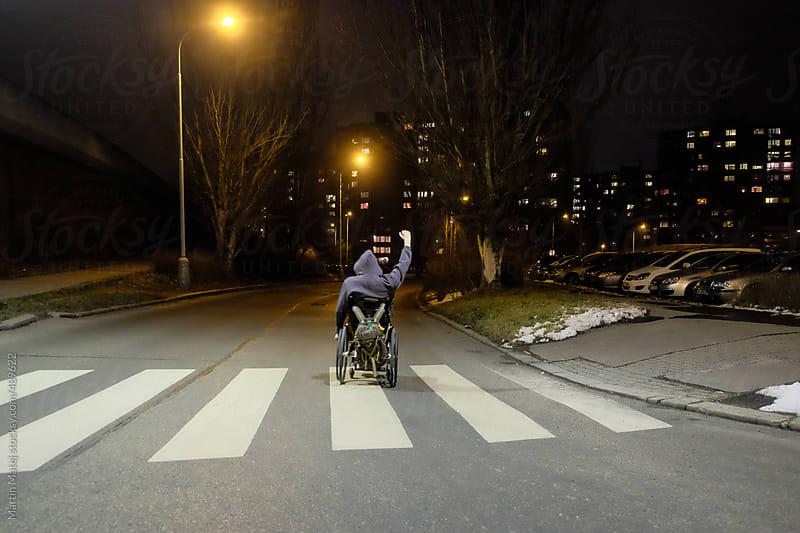 Wheelchair rebel  by Martin Matej for Stocksy United