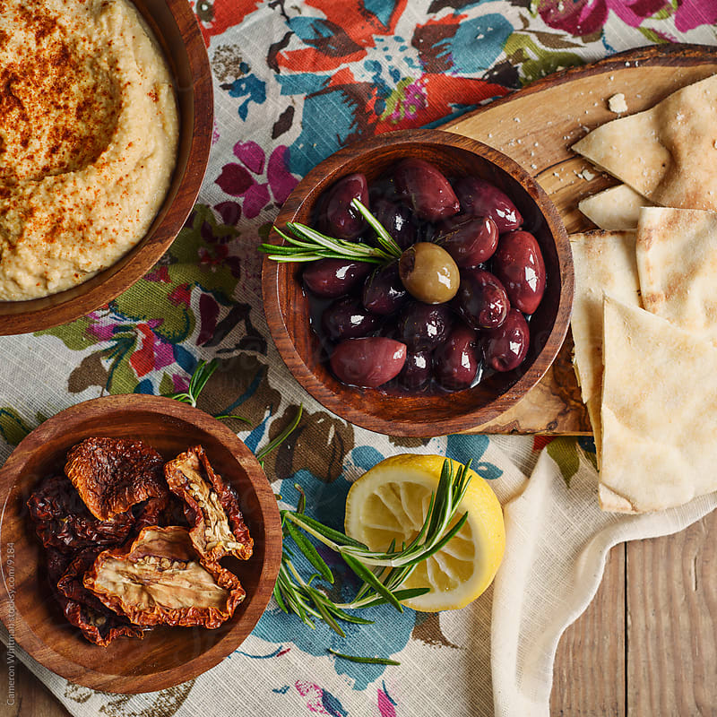 Mediterranean Food Still Life by Cameron Whitman for Stocksy United
