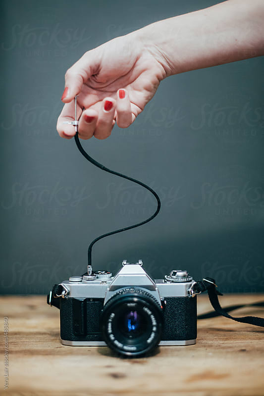 Analog camera and shutter by Vera Lair for Stocksy United