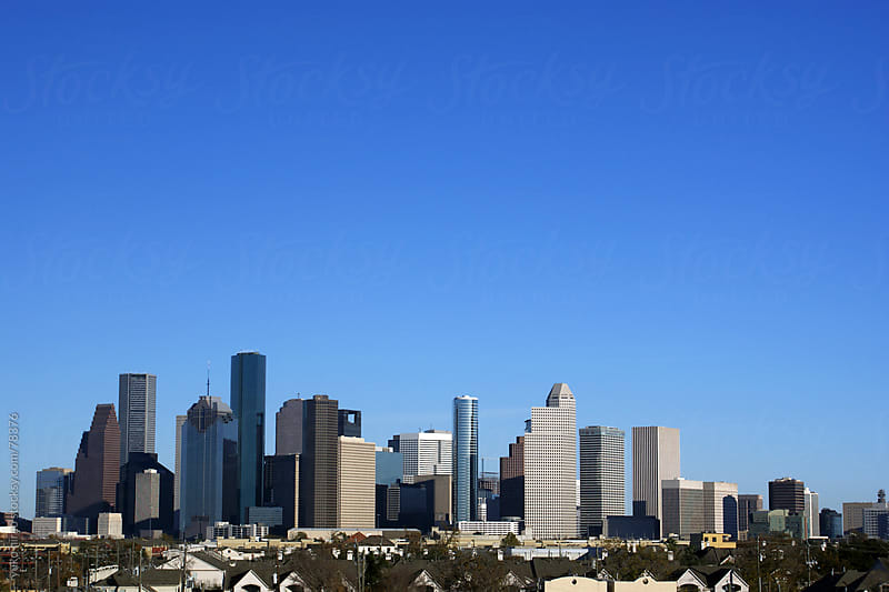 Downtown Houston in the afternoon by yuko hirao for Stocksy United