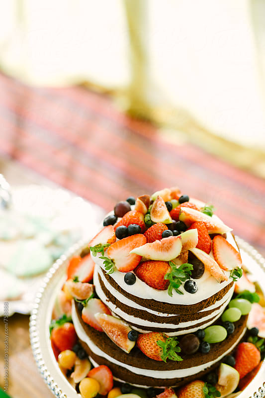 Fruit chocolate cake by MaaHoo Studio for Stocksy United