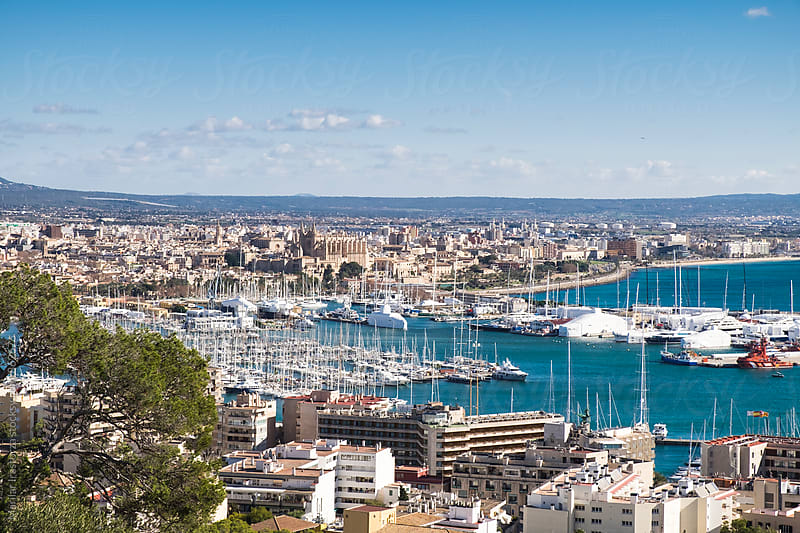 View of the city of Palma de Mallorca and its port by Marilar Irastorza for Stocksy United
