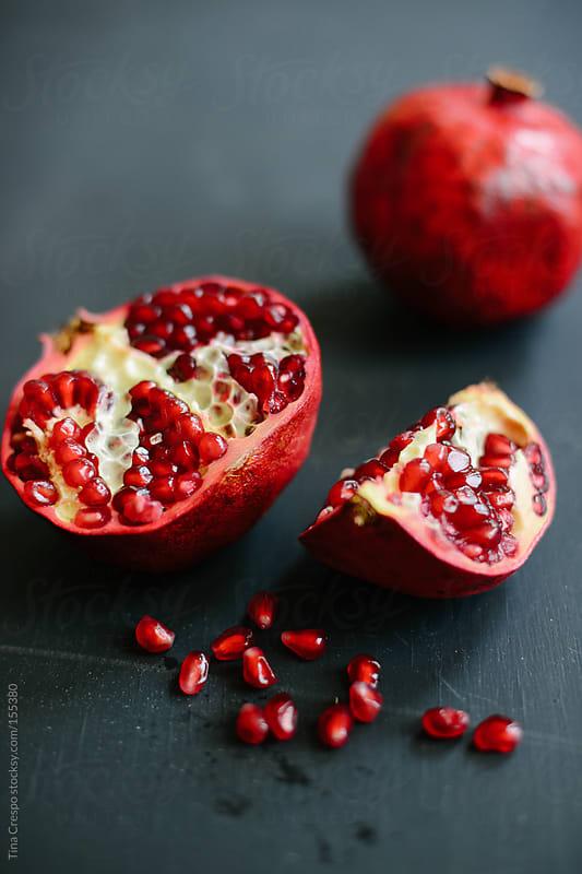 Pomegranate Close Up by Tina Crespo for Stocksy United