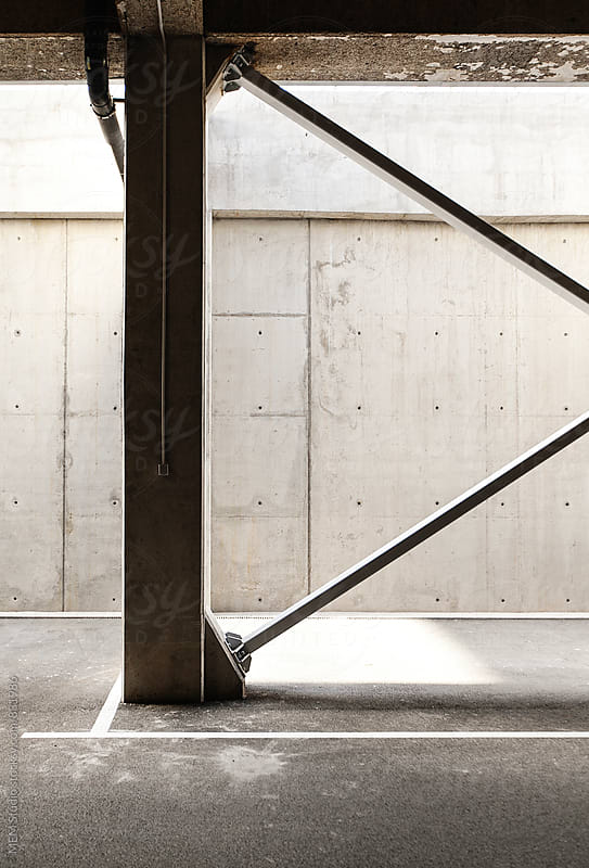 concrete parking lot by MEM Studio for Stocksy United