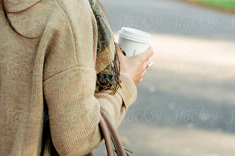 Woman with coffee by Dimitrije Tanaskovic for Stocksy United