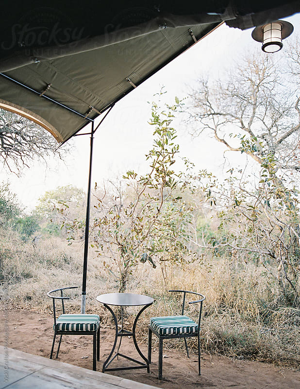 Safari tent in South Africa  by Vicki Grafton Photography for Stocksy United