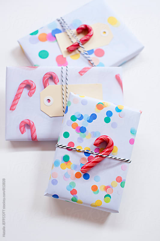 Creating your own Christmas gift wrap from photographs by Natalie JEFFCOTT for Stocksy United