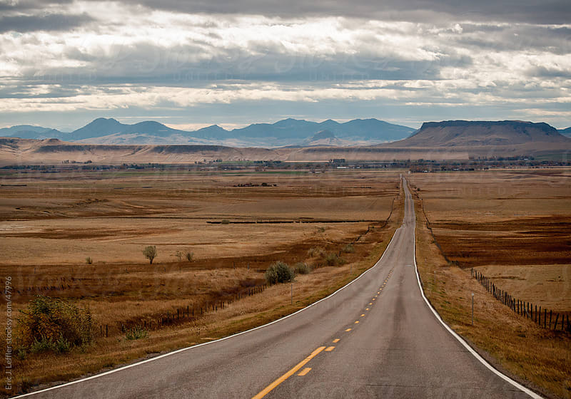 Wyoming Highway by Eric James Leffler for Stocksy United