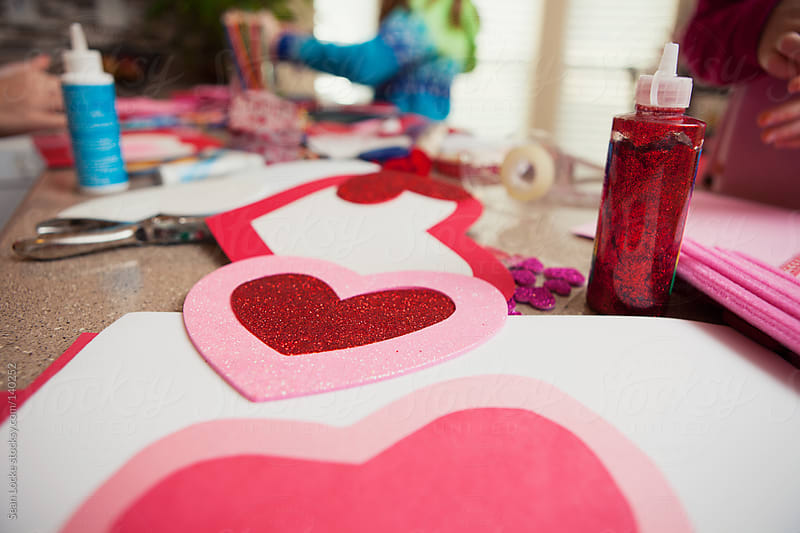 Valentine: Focus On Pink and Red Foam Heart by Sean Locke for Stocksy United
