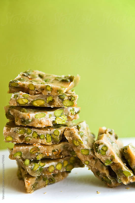 Pistachio brittle by Veronika Studer for Stocksy United