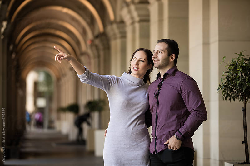 Tourist Couple Sightseeing in European City by Odyssey Stock for Stocksy United