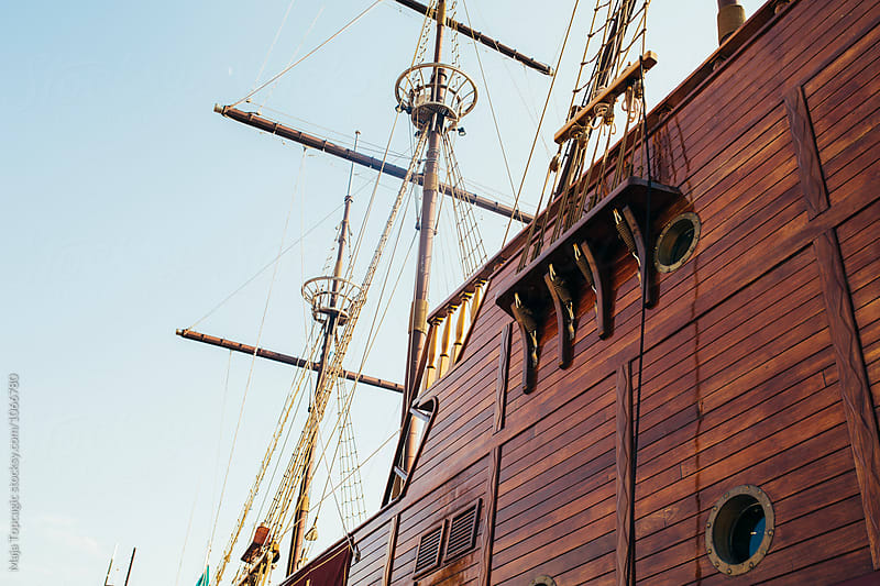 Mast of a wooden boat by Maja Topcagic for Stocksy United