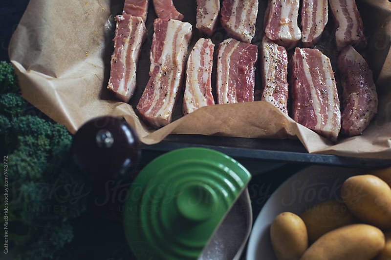 Prepared Pork Belly by Catherine MacBride for Stocksy United