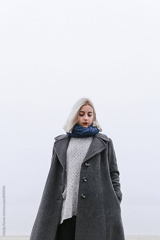 Portrait of beautiful blonde woman - vertical by Marija Kovac for Stocksy United