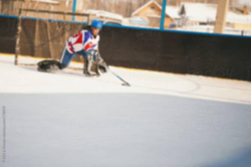hockey in the yard by T-REX & Flower for Stocksy United