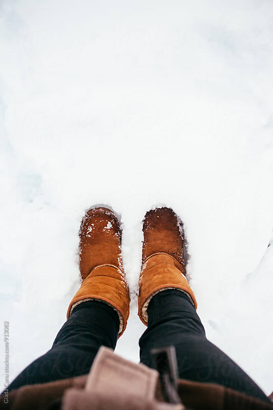 Shoes in the snow by Giada Canu for Stocksy United