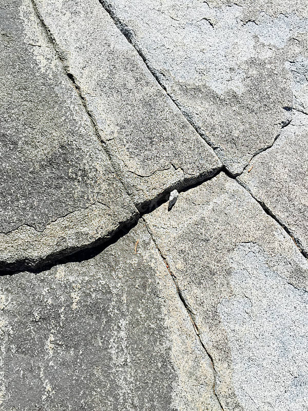 Detail of granite rock and fractures, High Sierra, CA by Paul Edmondson for Stocksy United