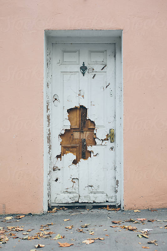 Marvelous Broken Door By HEX. For Stocksy United