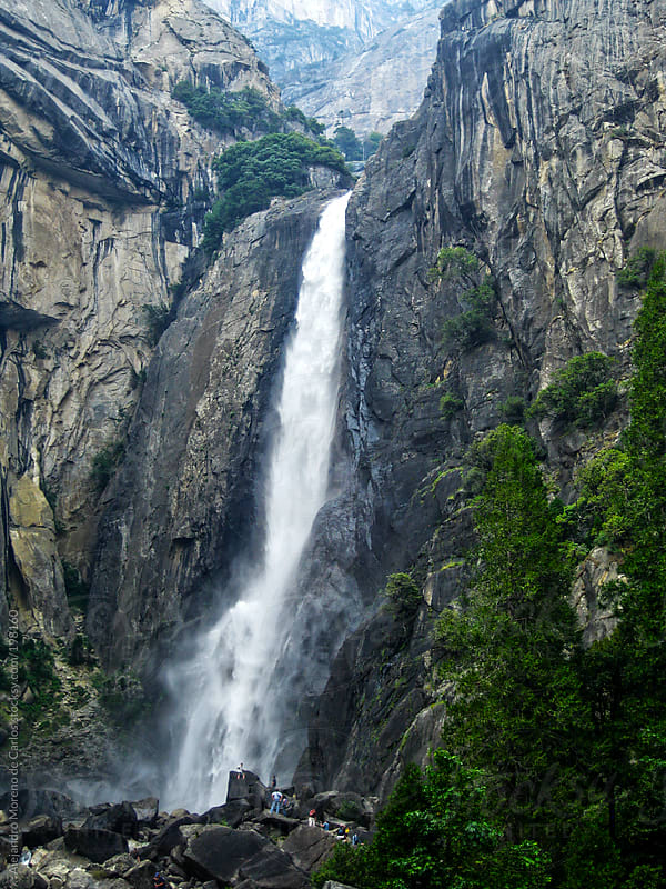 Bridalveil fall in Yosemite National Park, California, USA by Alejandro Moreno de Carlos for Stocksy United