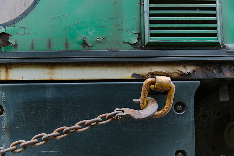 Chain Holding Train  by Raymond Forbes LLC for Stocksy United