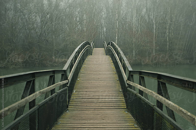 Bridge on a winter day. by CACTUS Blai Baules for Stocksy United