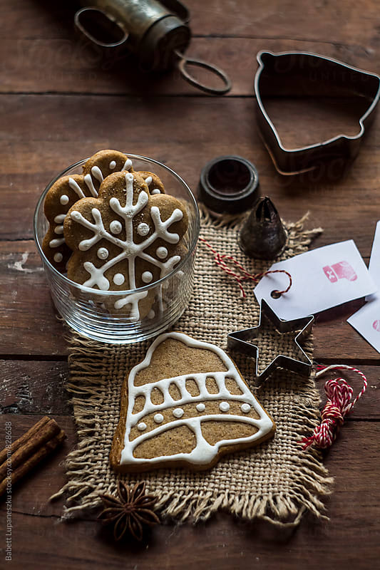 Preparing Gingerbread cookies by Babett Lupaneszku for Stocksy United