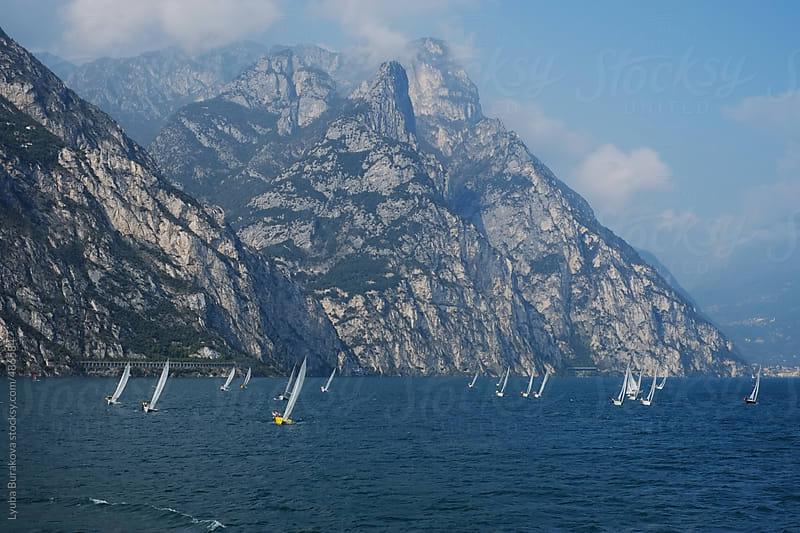 Sailing at lake Garda in Italy  by Lyuba Burakova for Stocksy United