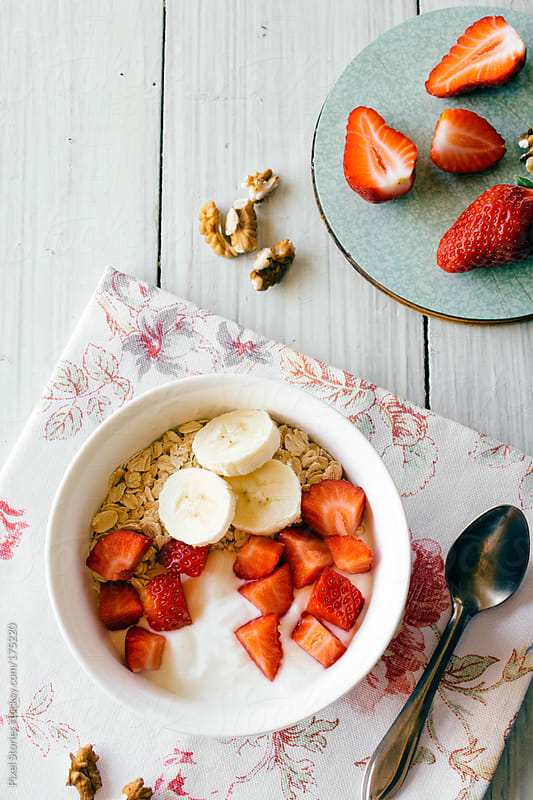 Healthy muesli breakfast by Pixel Stories for Stocksy United