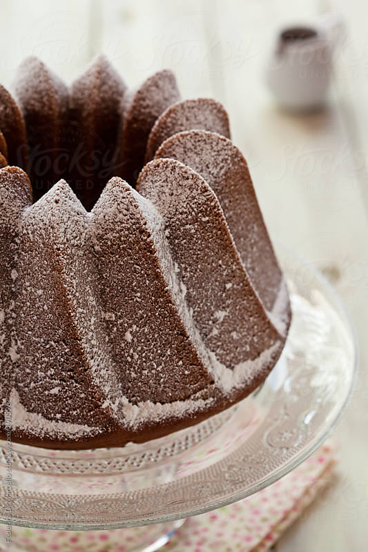 Chocolate bundt cake  by Federica Di Marcello for Stocksy United