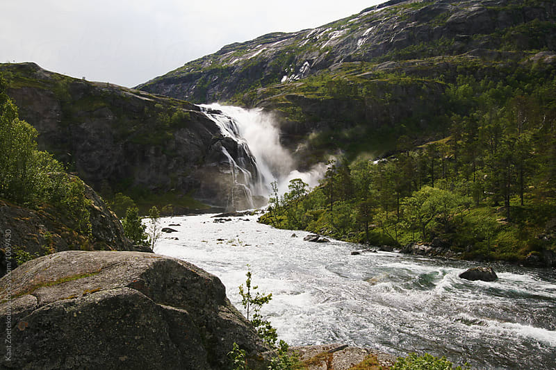 Norway Waterfall by Kaat Zoetekouw for Stocksy United