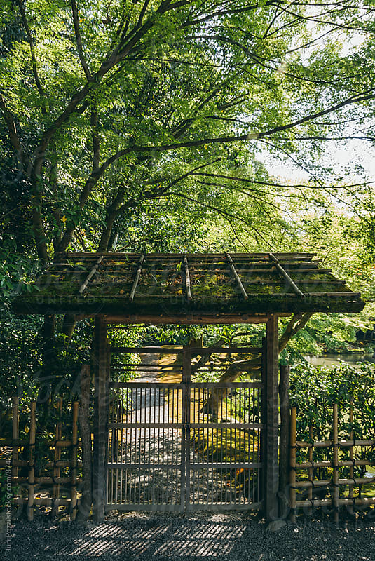 bamboo gate in kyoto by Juri Pozzi for Stocksy United