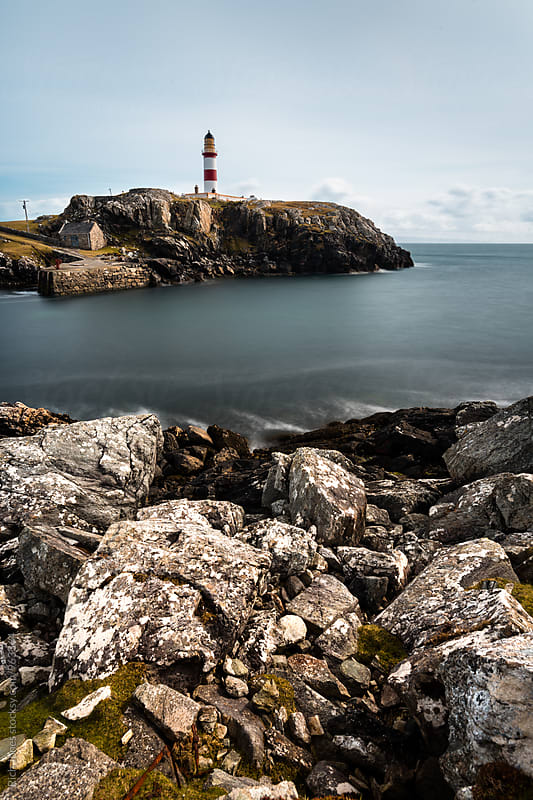 Eileen Glas Lighthouse, Isle of Harris by Richard Jones for Stocksy United