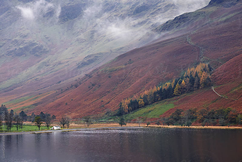 Cloud and autumnal colours. Buttermere, Cumbria, UK. by Liam Grant for Stocksy United