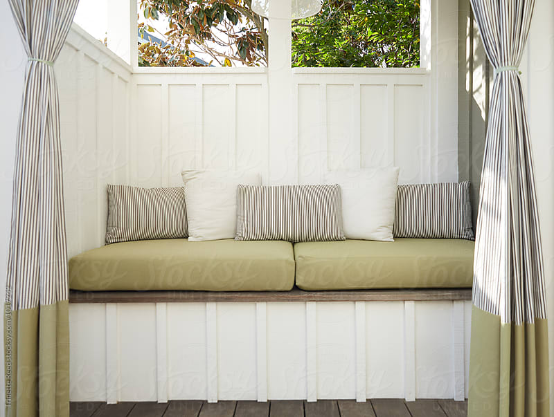 Outdoor sitting area by Trinette Reed for Stocksy United