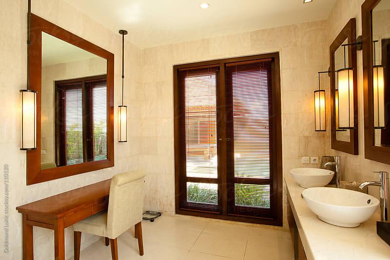 Hotel Bathroom by Goldmund Lukic for Stocksy United